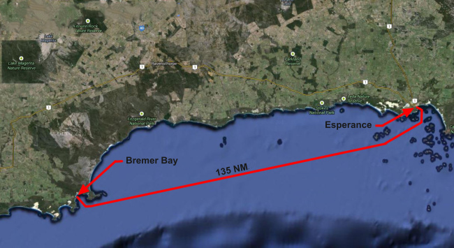 esperance to breamer bay