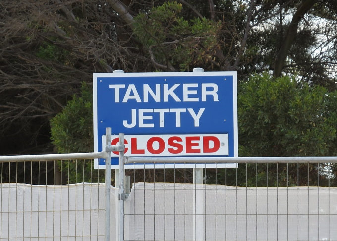 tanker jetty closed