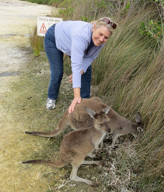marcie with the roos