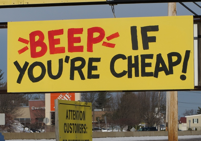 beep if your cheap