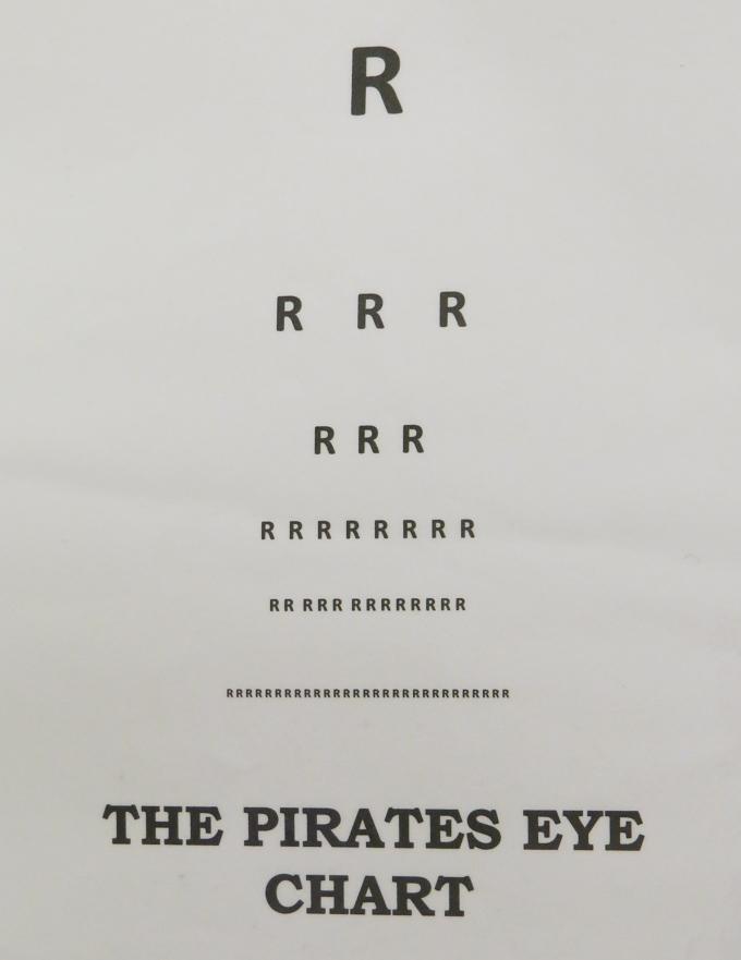 pirate eye chart