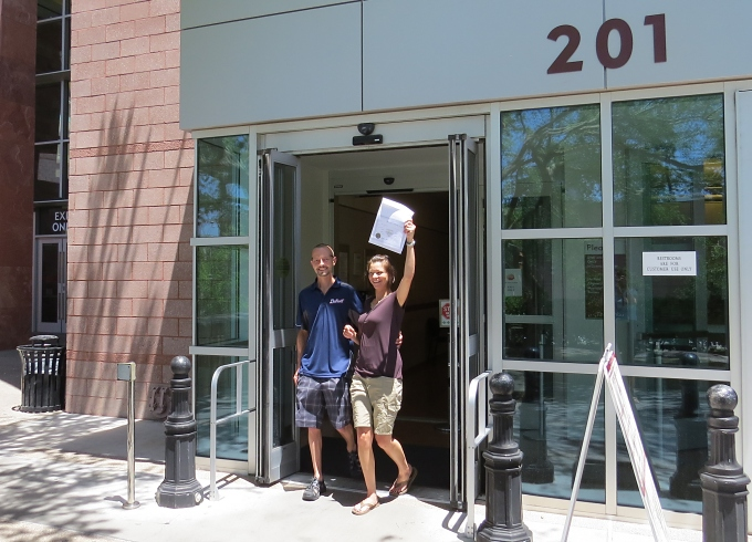 couple with marriage license