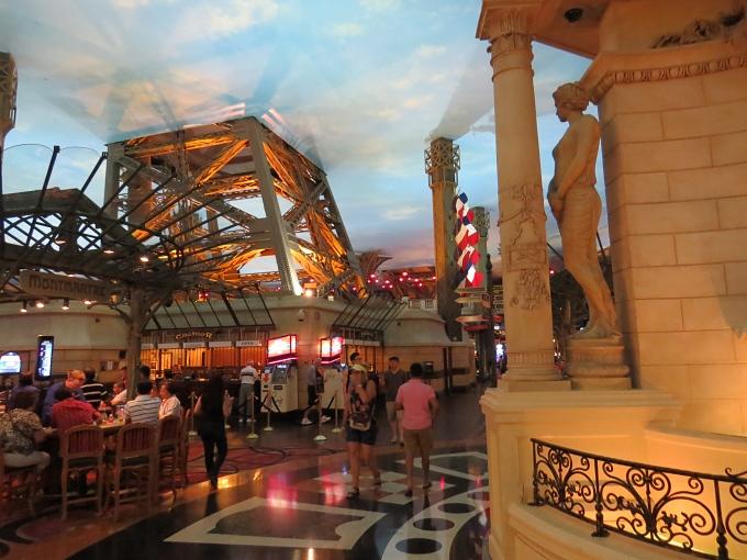 eiffel tower legs in the casino