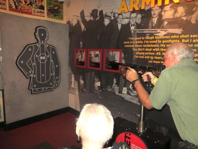 david shoots a tommy gun