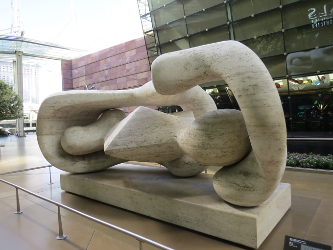 reclining connected forms by henry moore las vegas nevada