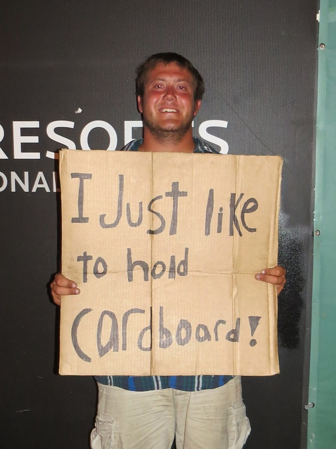 i just like to hold cardboard