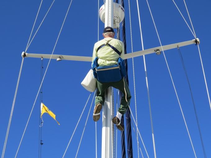 david up the mast