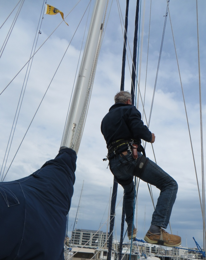 heading up the mast