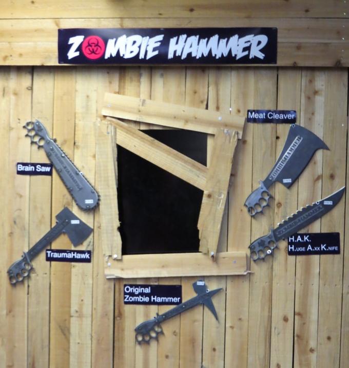zombie hammer wall