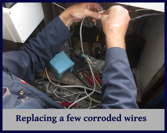 replacing corroded wire