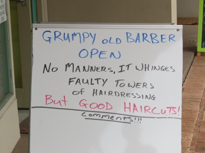 grumpy barber