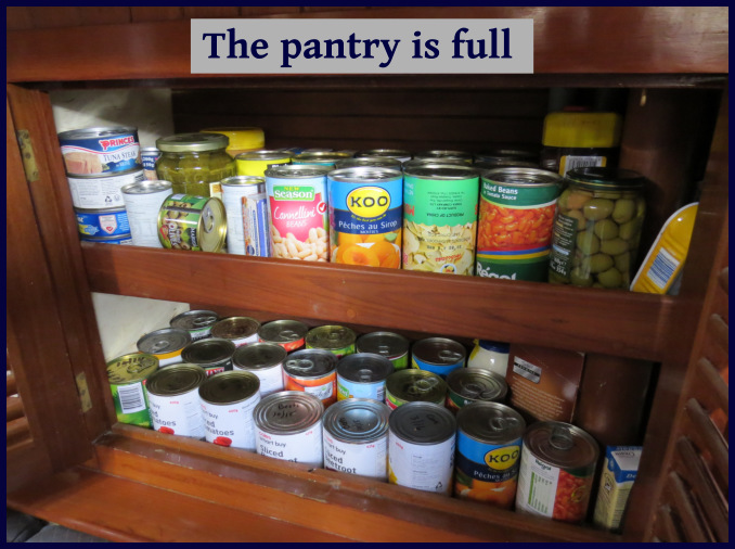 the pantry is full
