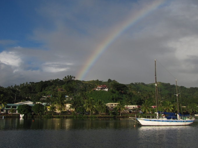 rainbow over fiji