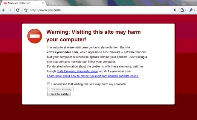 google malware flag