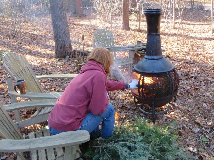 burning the tree