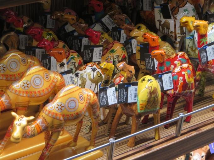 wooden camel souvenirs