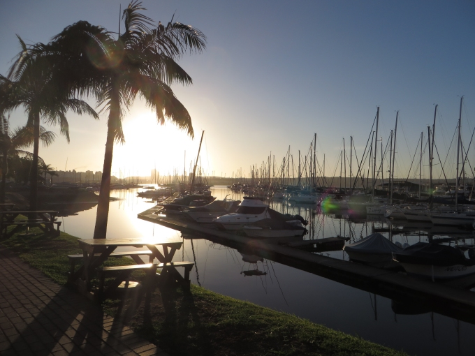 durban marina at sunrise