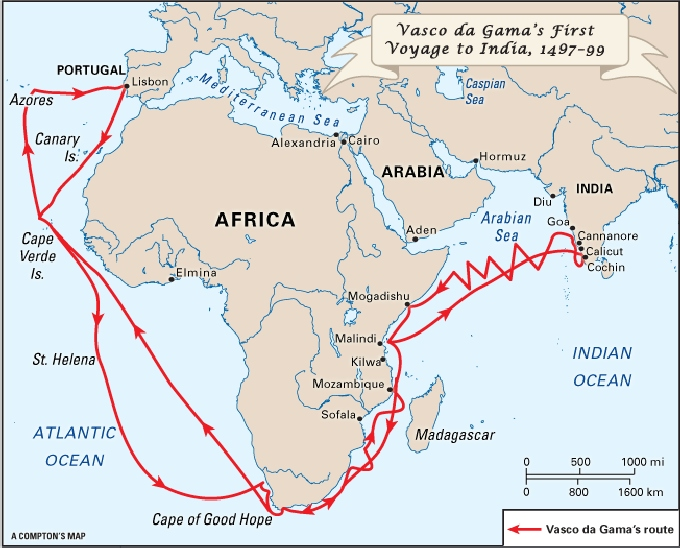 vasco de gama route