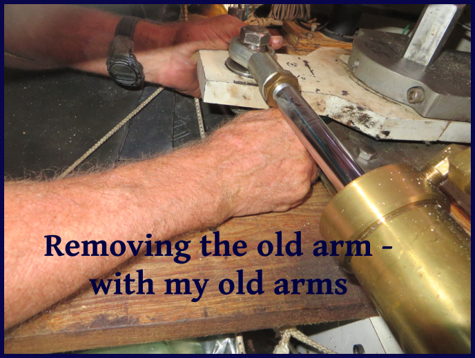 removing the old arm