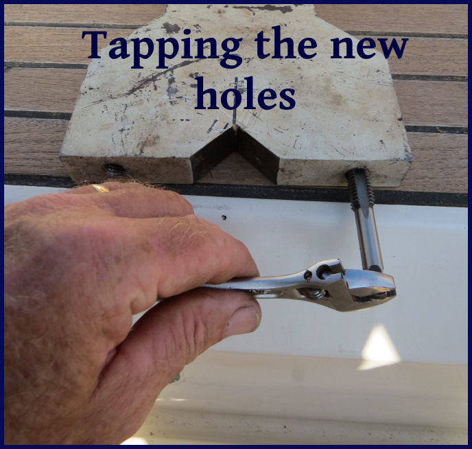 tapping the new holes