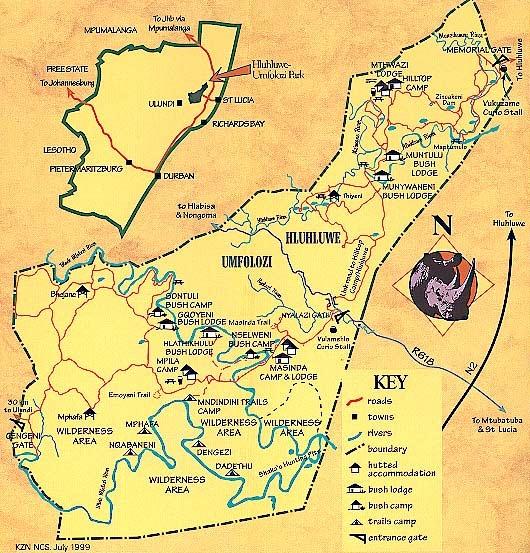 imfolozi map