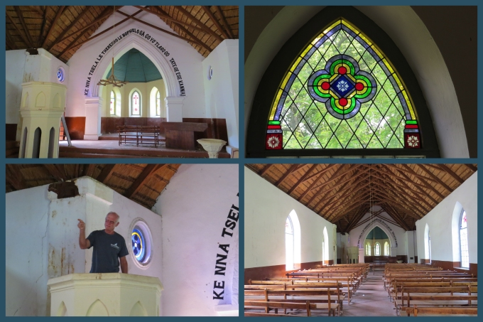 inside the church at ndebele