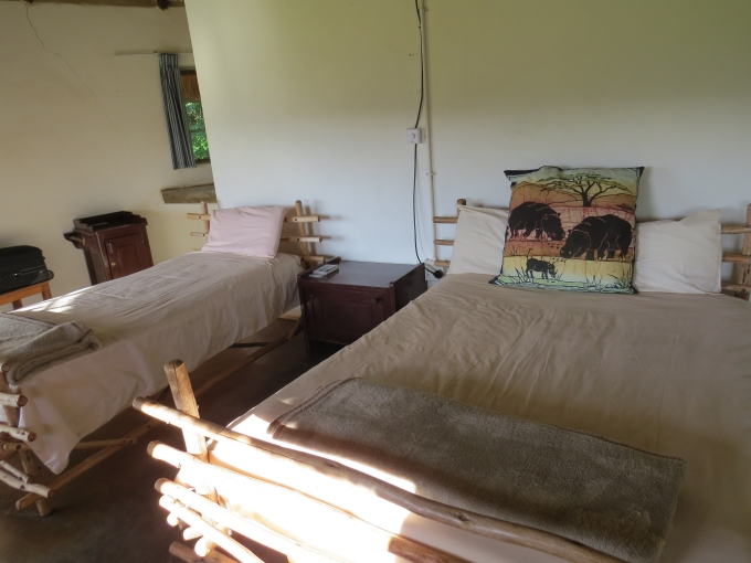 the hut at mlilwane animal sanctuary