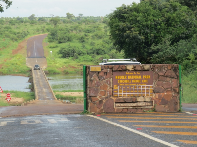 gate and causeway at kruger np