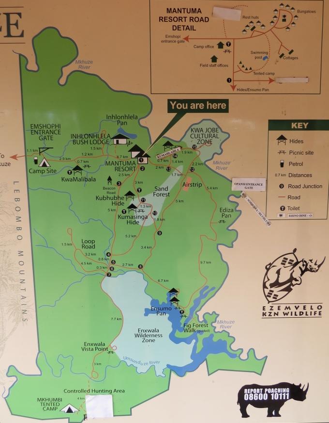 mkhuze park map