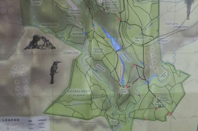 map of mlilwane wildlife sanctuary