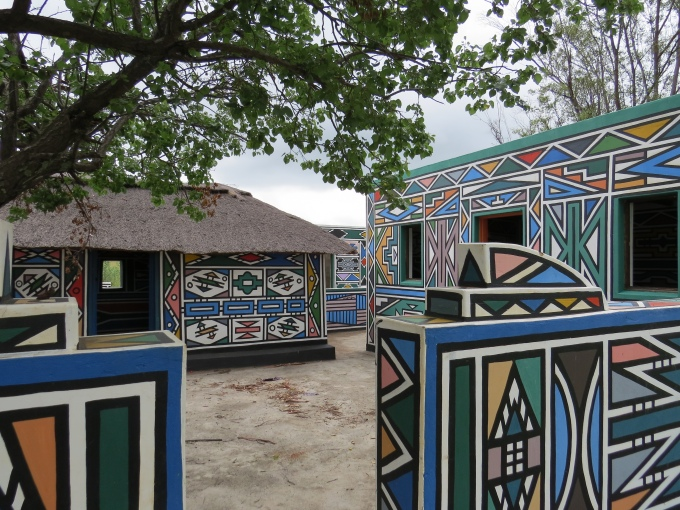 colorful walls ndebele open air museum