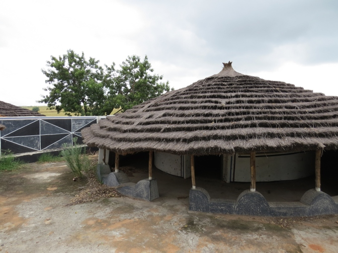 hut at ndebele open air museum