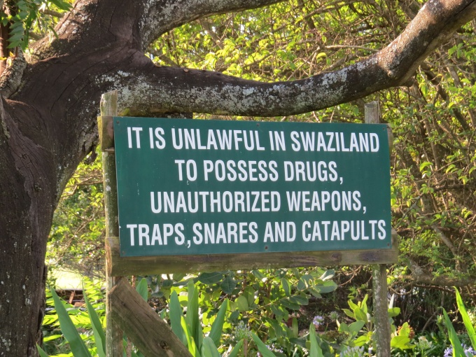 not catapults in mlilwane wildlife sanctuary