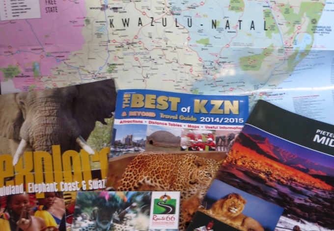 all the tourist brochures