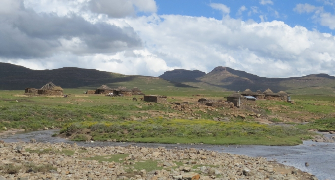 stone hut village in lesotho