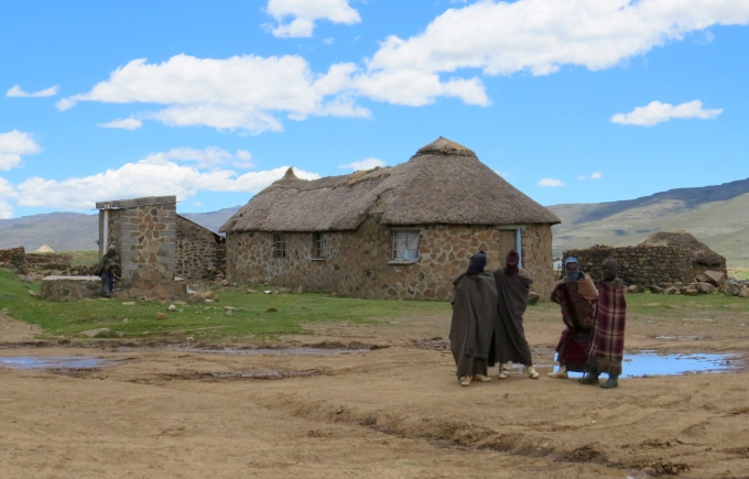 stone huts in lesotho