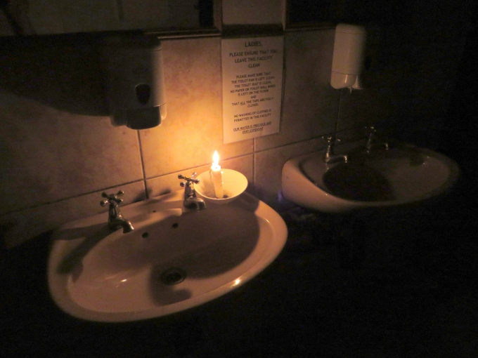 candle in the ladies room