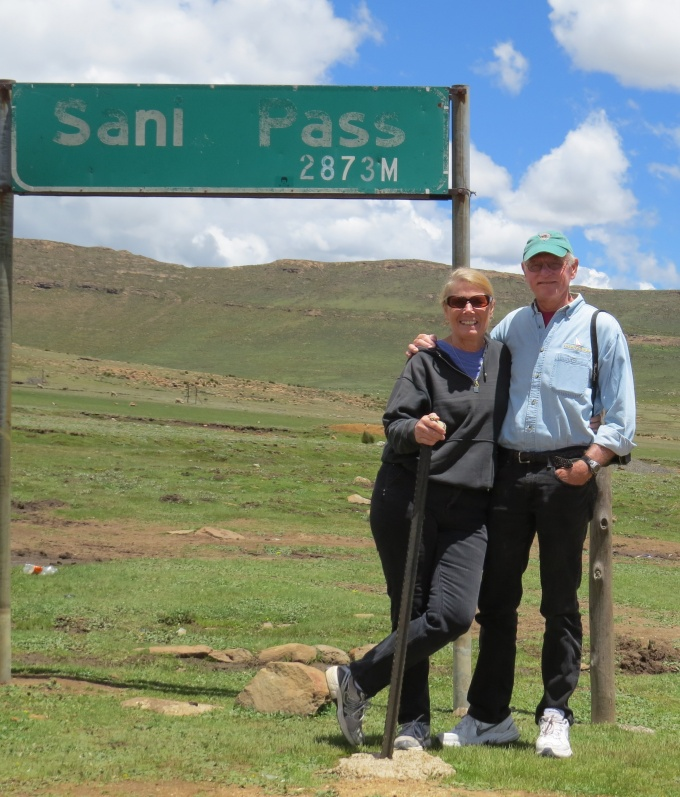 marice and david at the top of sani pass