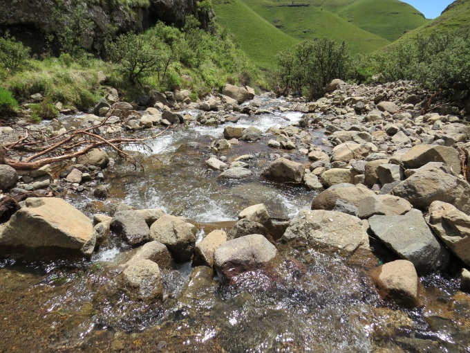 stream on sani pass south africa lesotho