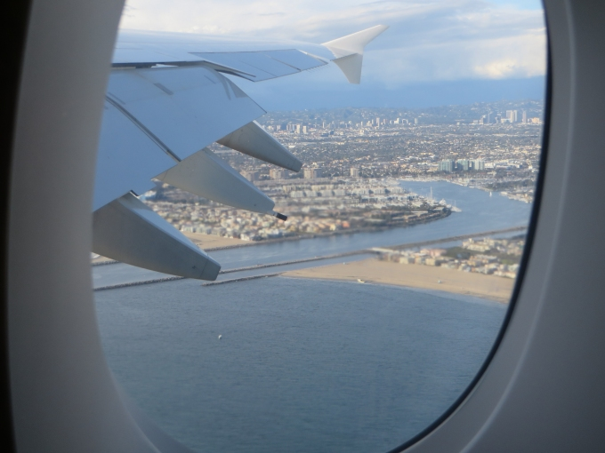 marina del rey from the plane