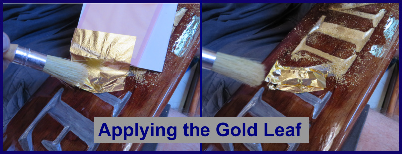 applying gold leaf