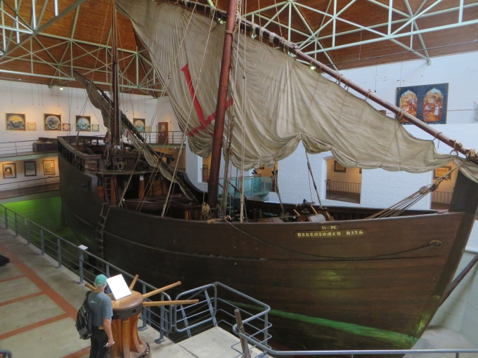 caravel at the dias museum in mossel bay