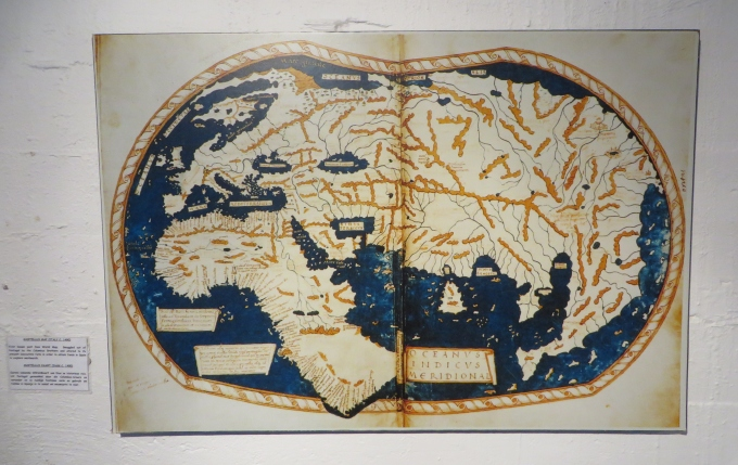 stolen map at mossel bay dias museum