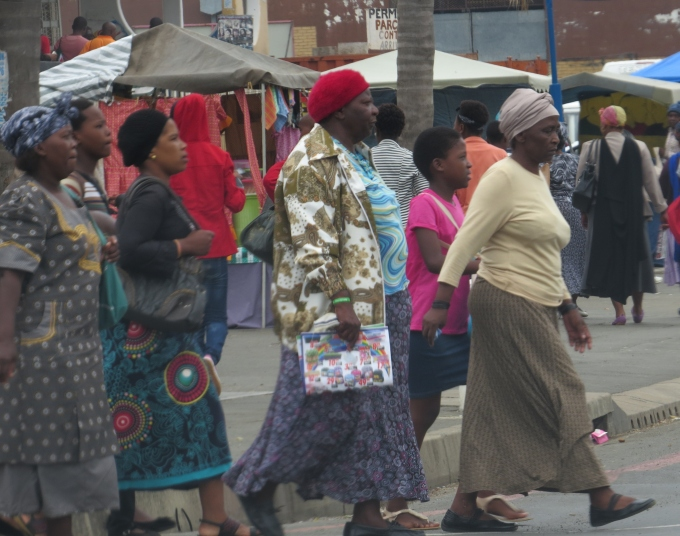 durban women wearing shweshwe