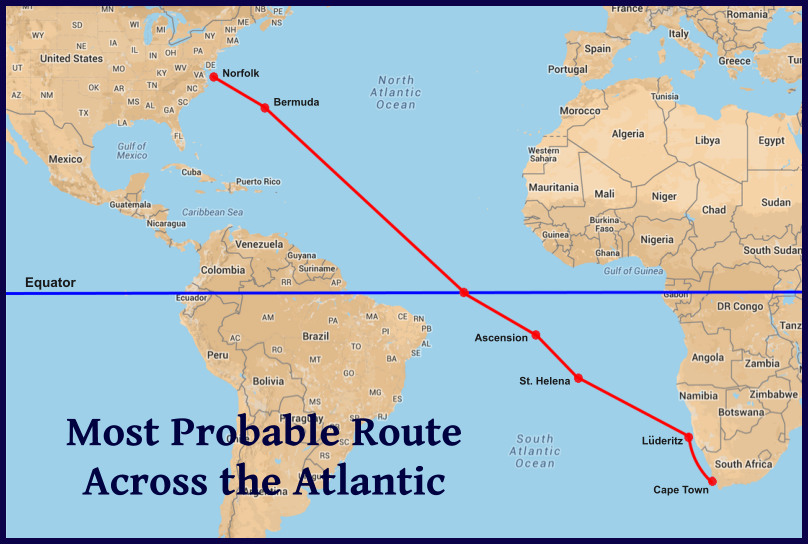 planned atlantic route