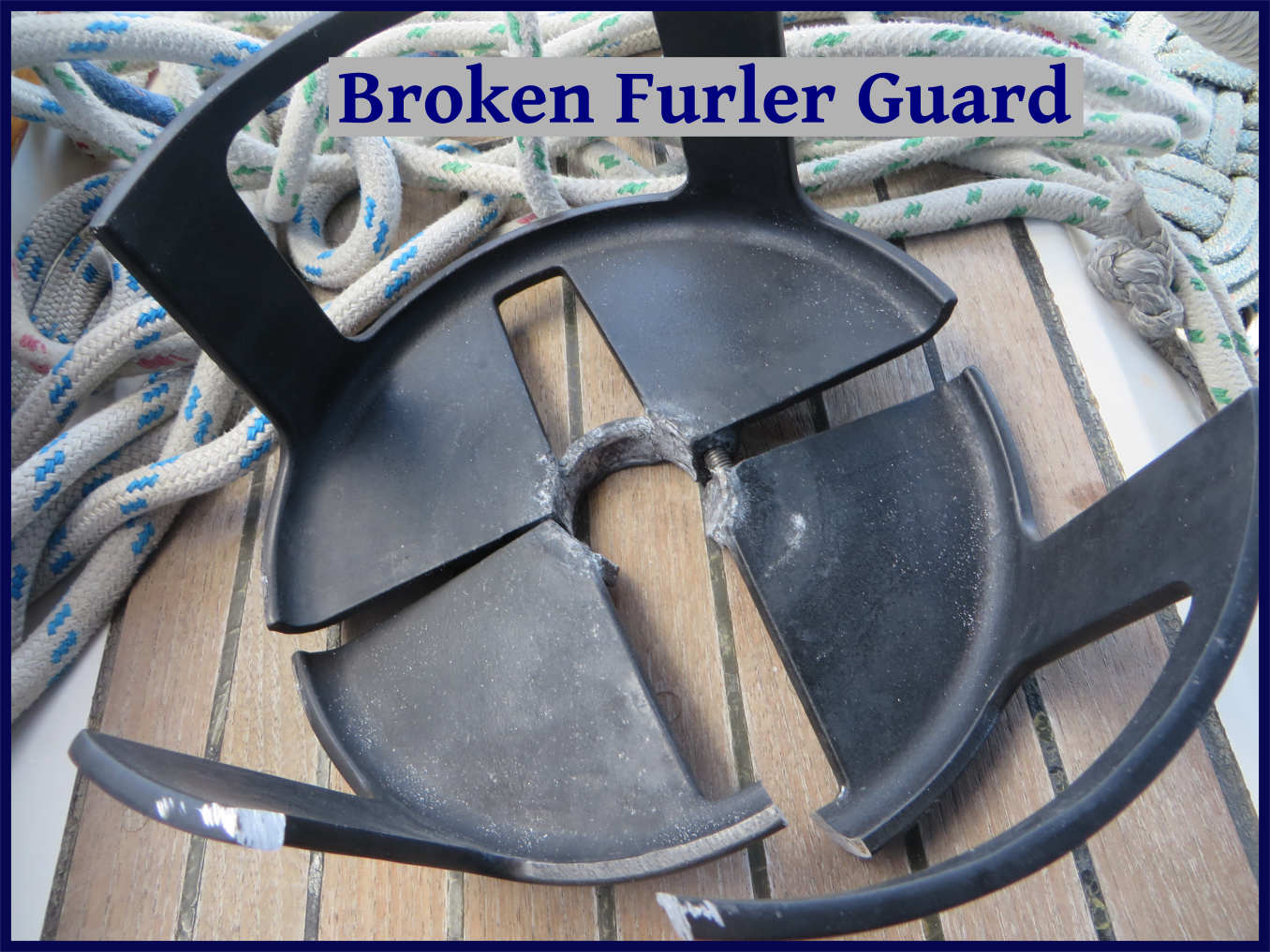 broken furler guard
