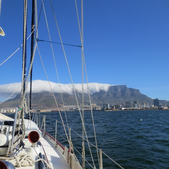 heading into table bay cape town south africa