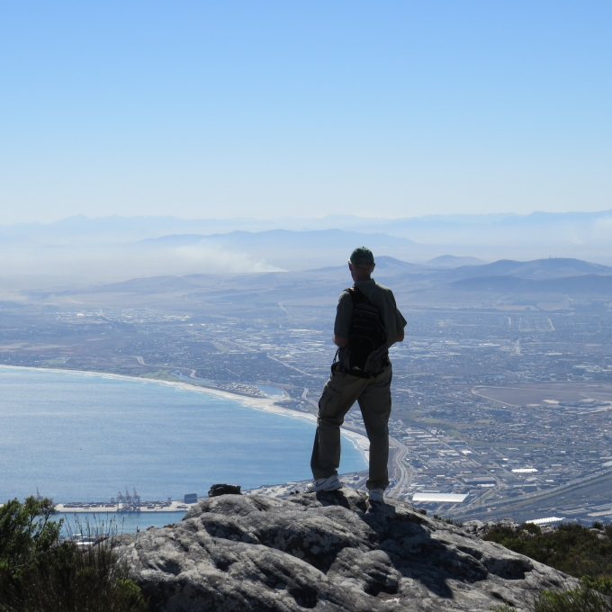 view of cape town south africa from table mountain