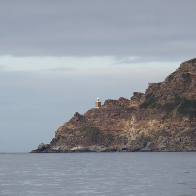 lighthouse from the sea at cape of good hope