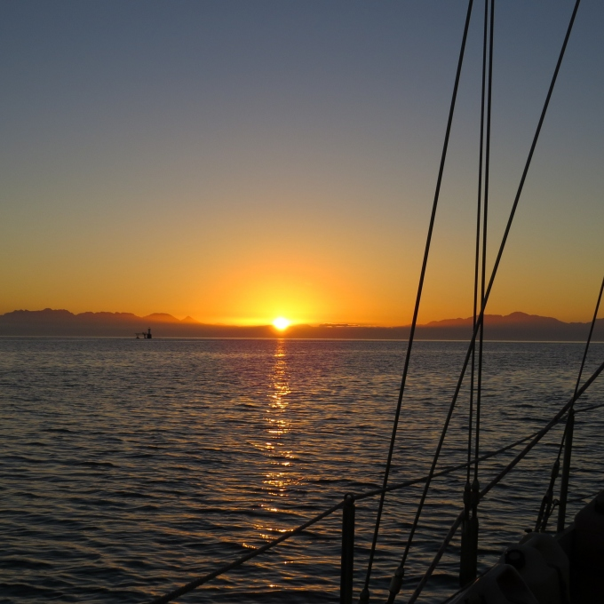 sunrise leaving simons town
